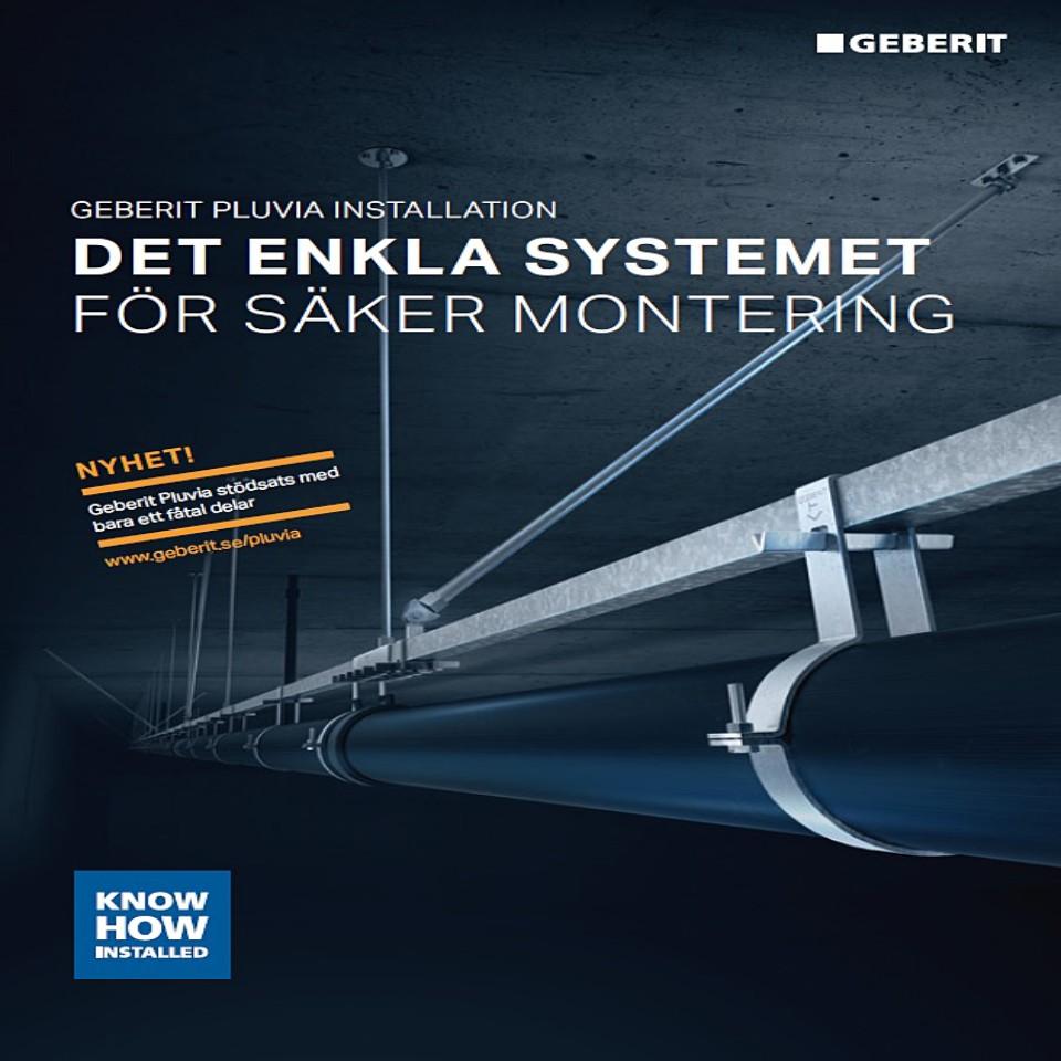 Geberit Pluvia - Det enkla systemet för säker montering